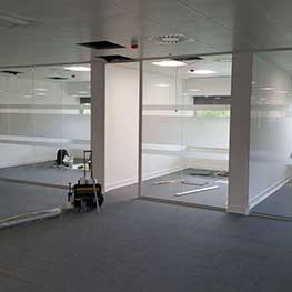Glass partition office Kent