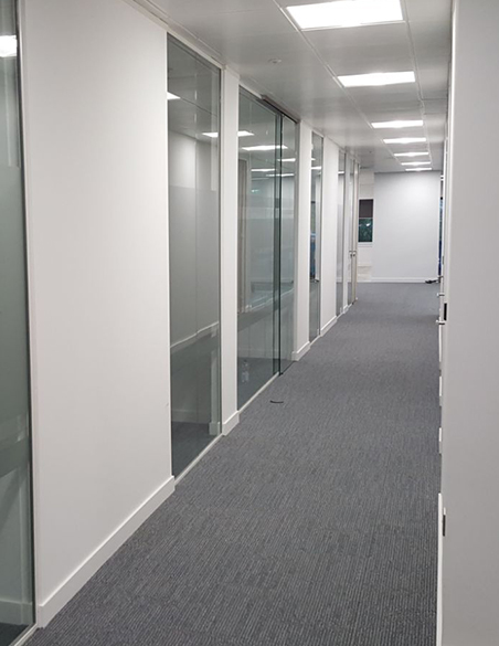 Wall Partitioning in office