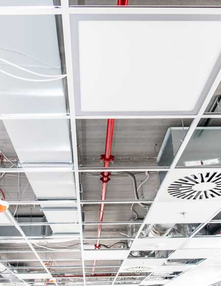 Suspended Ceiling Frame in Office